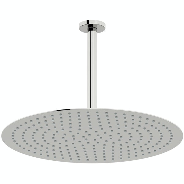 Mode Slim round stainless steel 400mm shower head and ceiling arm