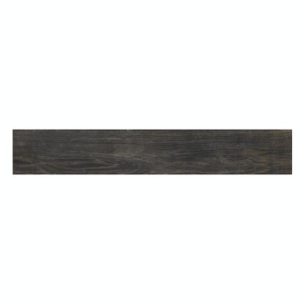 Hawthorne walnut wood effect matt wall and floor tile 165mm x 1000mm