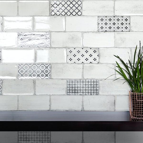 Vita white brick tile 100mm x 200mm