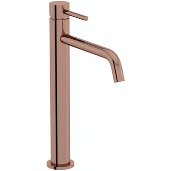 Mode Spencer round rose gold high rise basin mixer tap