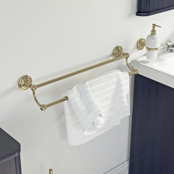 The Bath Co. 1805 gold double towel rail