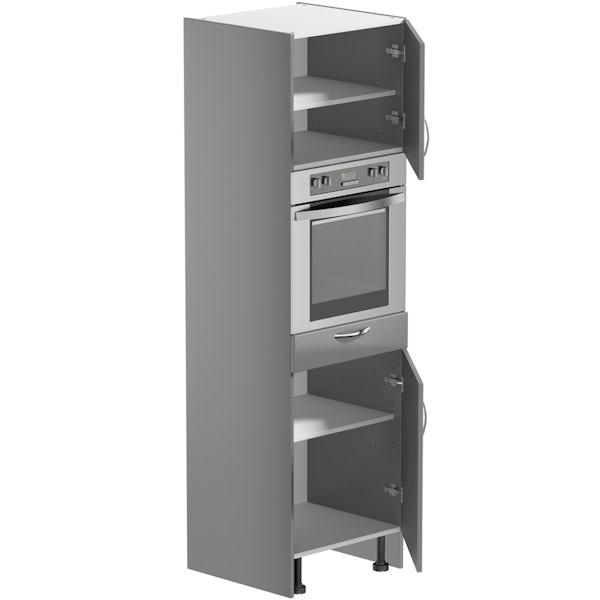 Schön New England light grey shaker 600mm single oven housing unit