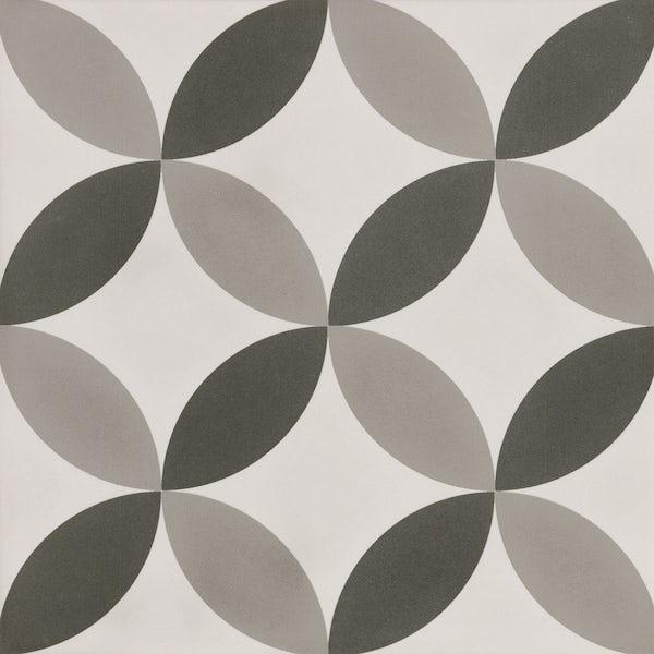 Patchwork traditional décor mix matt wall and floor tile 185mm x 185mm