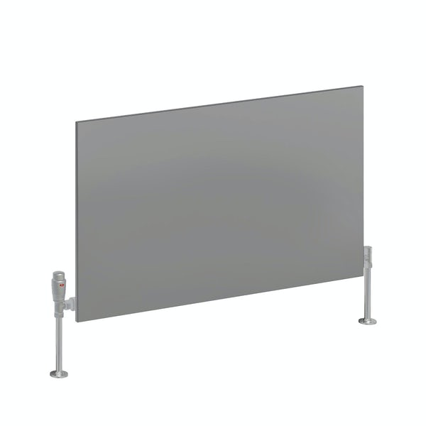 Reina Slimline anthracite grey horizontal steel designer radiator