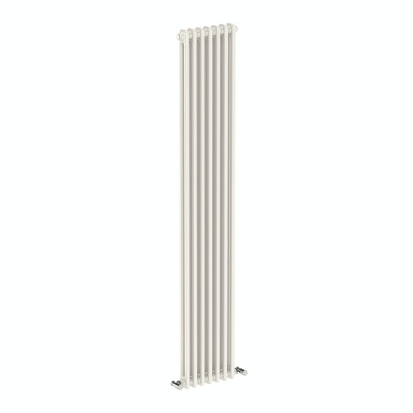 Dulwich vertical white double column radiator 1800 x 335