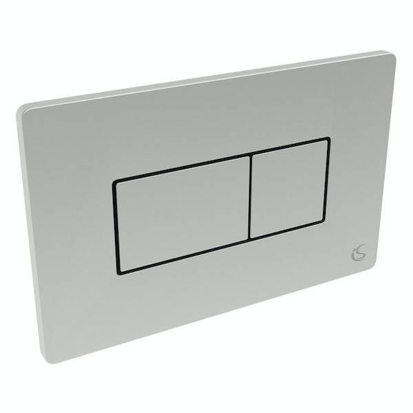 Ideal Standard concealed cistern with top inlet and chrome flush plate