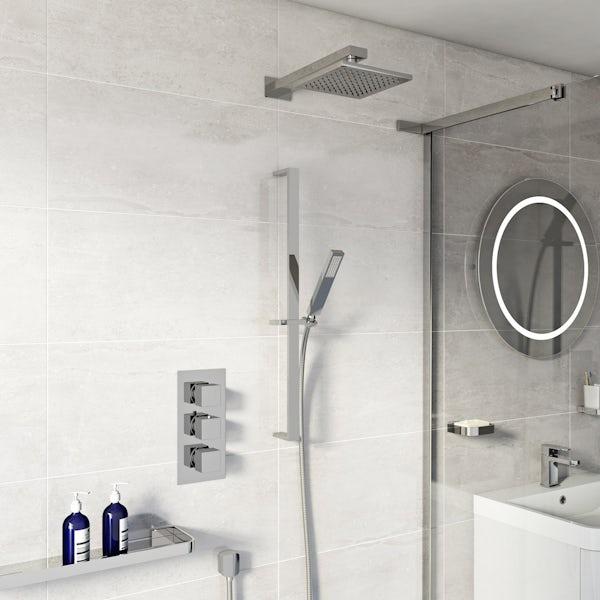 Mode Ellis Thermostatic Triple Shower Valve Shower Set  VictoriaPlum.com