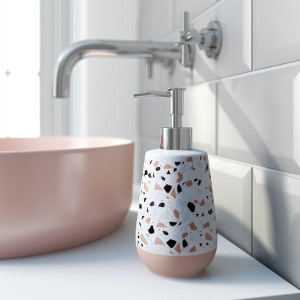 Accents Turin Terrazzo effect soap dispenser