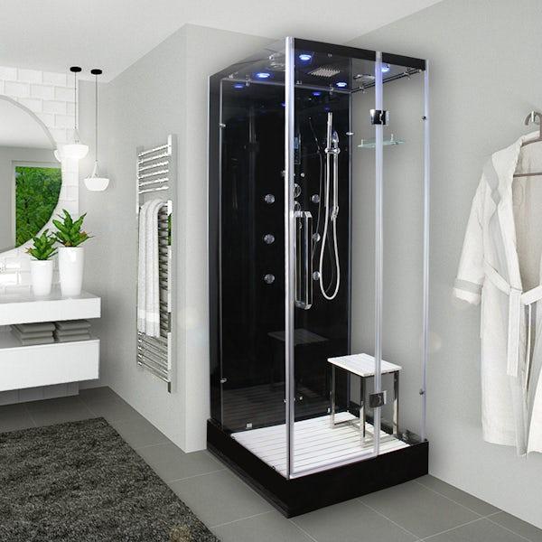 Insignia Noire square steam shower cabin 900 x 900