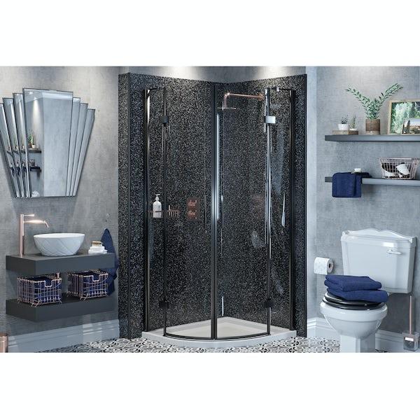 Mode Get The Look Dark Wonder shower enclosure suite 900 x 900
