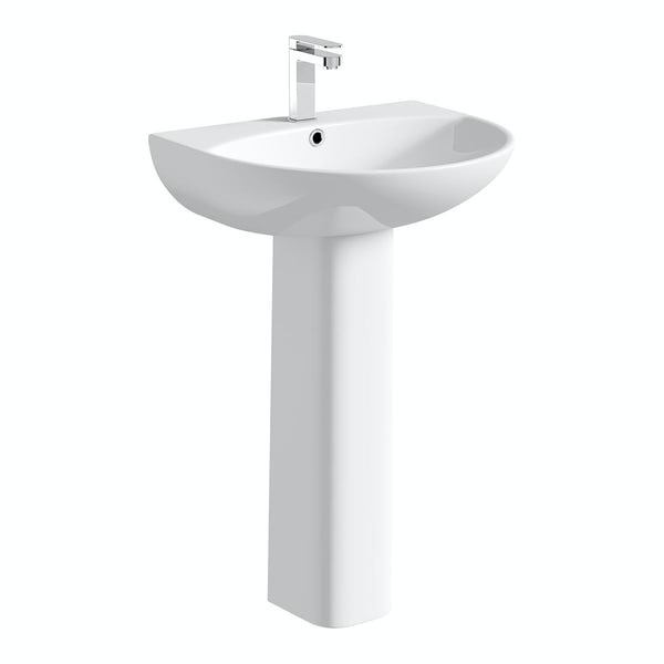 Mode Harrison 1 tap hole full pedestal basin 550mm