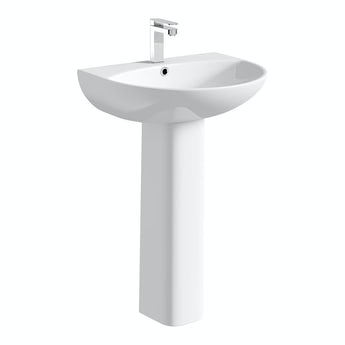 Mode Hardy 1 tap hole full pedestal basin 555mm