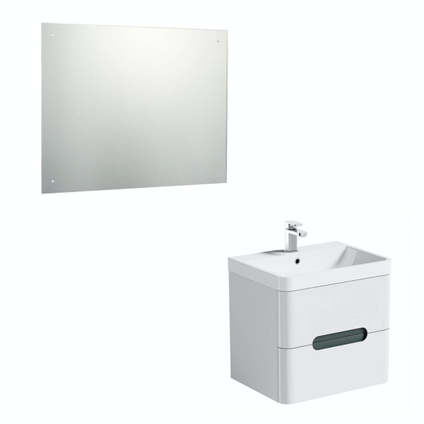 Mode Ellis slate wall hung vanity unit 600mm and mirror offer