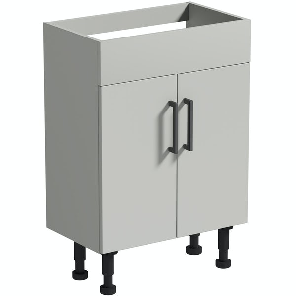 Reeves Wyatt light grey floorstanding vanity unit 870 x 600mm