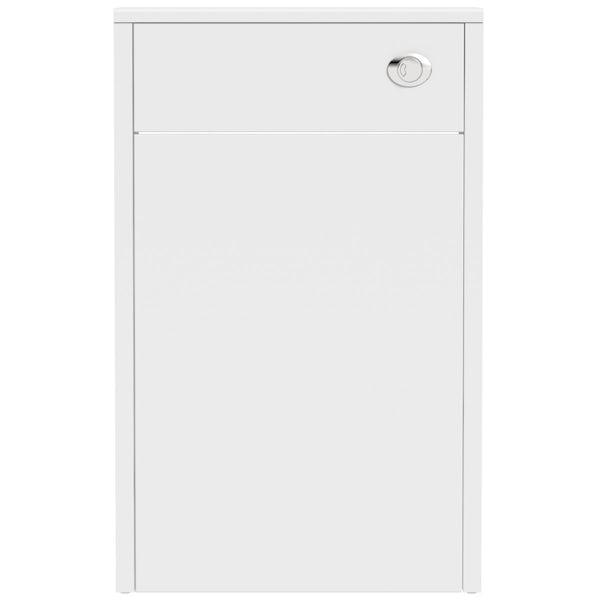 The Bath Co. Dulwich matt white slimline back to wall toilet unit 500mm
