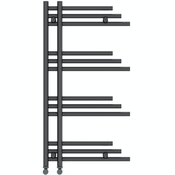 Mode Harrison anthracite grey heated towel rail 950 x 500