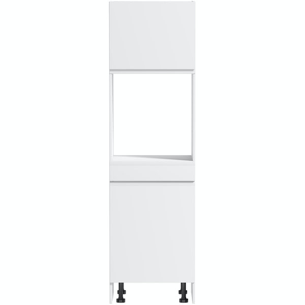 Schon Chicago white slab 600mm single oven housing unit