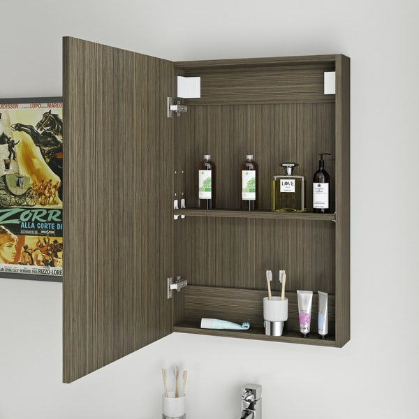 Orchard Wye walnut mirror cabinet