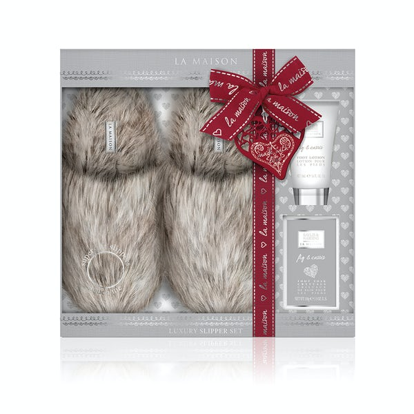 La maison fig & cassis slipper set