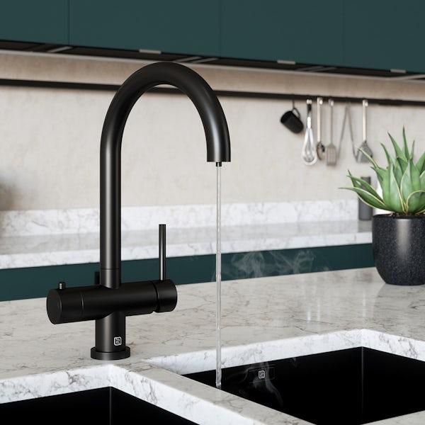 Schon Ramsey matt black 4 in 1 boiling water kitchen tap