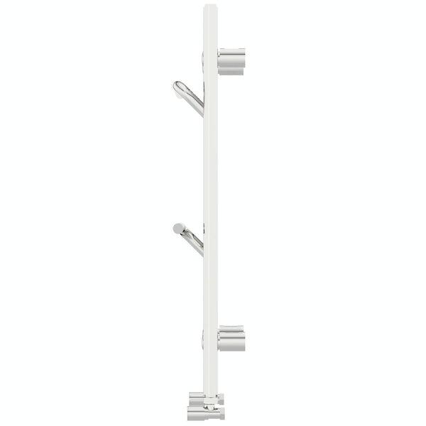 Mode Rohe chrome heated towel rail with hangers