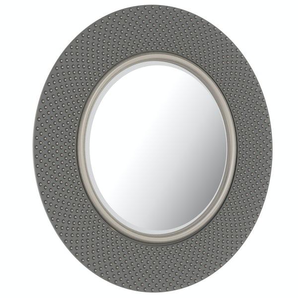 Innova Hammered silver mirror