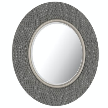 Hammered silver mirror