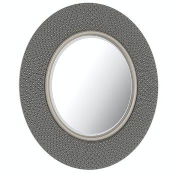 Hammered silver mirror
