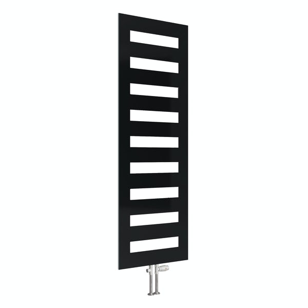 Reina Fondi anthracite grey steel designer towel rail