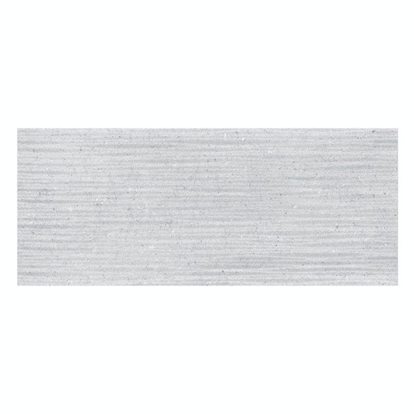 Rocha grey textured stone effect gloss wall tile 250mm x 600mm