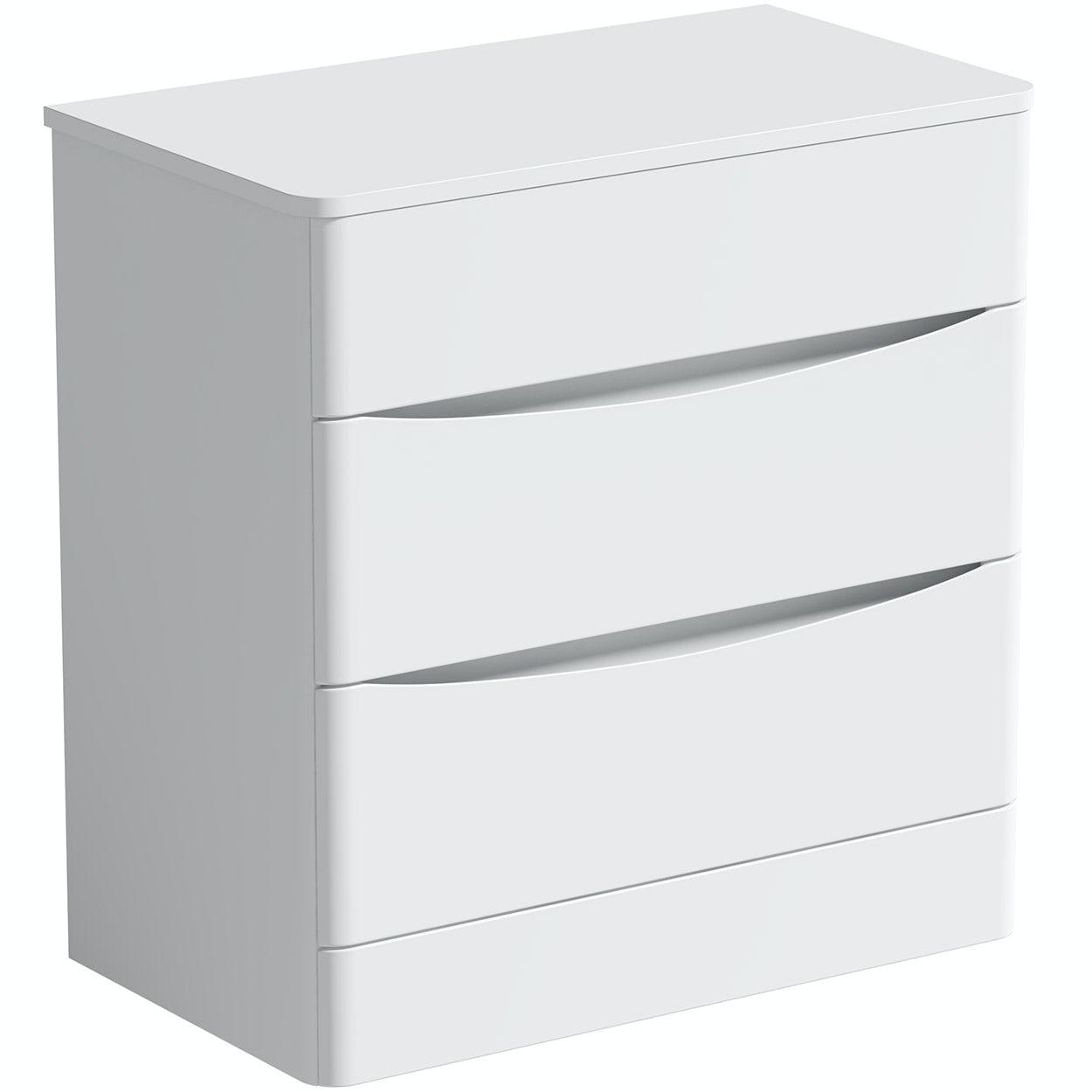Mode Adler white 800mm floorstanding vanity unit with countertop