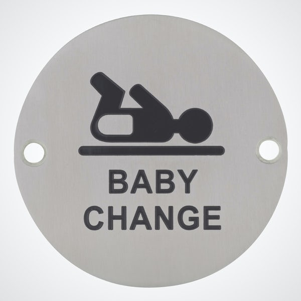 Dolphin pictograph baby changing toilet sign