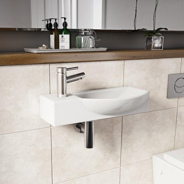 Lugano wall hung basin 505mm