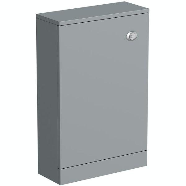 Clarity satin grey back to wall toilet unit