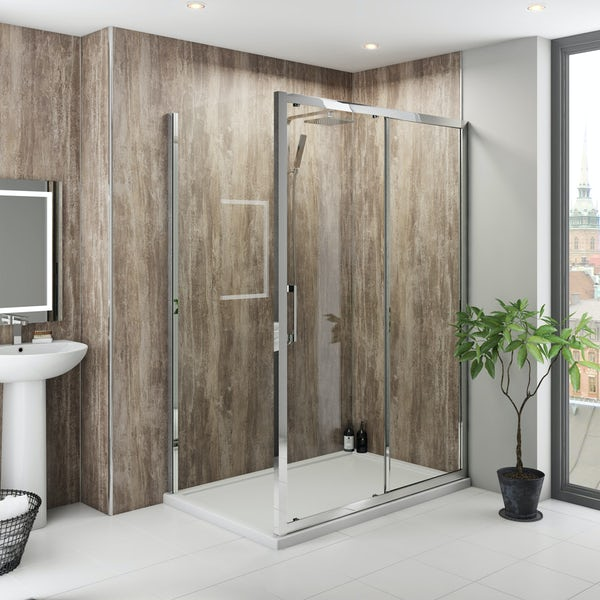 Multipanel Classic Monsoon Hydrolock shower wall panel 598