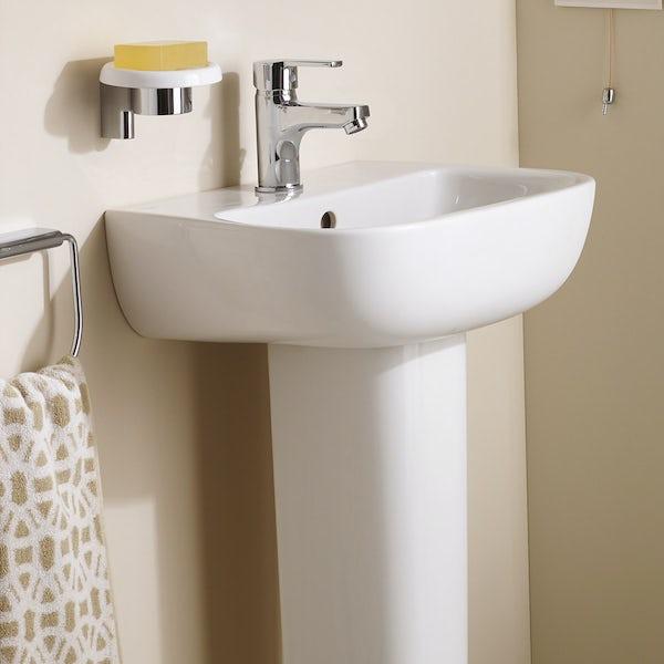 Ideal Standard Studio Echo 1 tap hole full pedestal basin 450mm