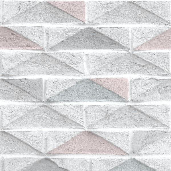 Graham & Brown Superfresco easy geo brick white wallpaper