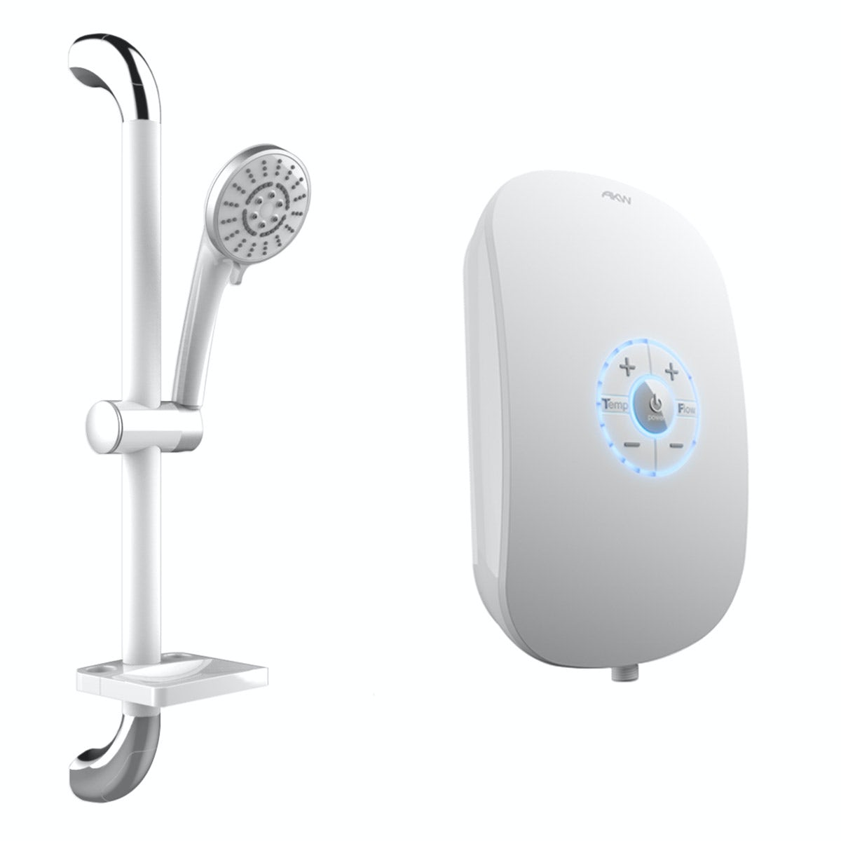 AKW Icare 8.5kw Electric Shower White