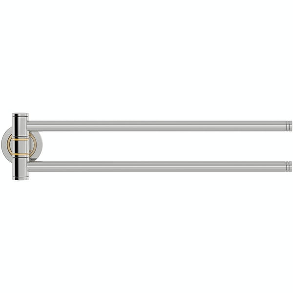 Accents premium traditional hingled double towel rail