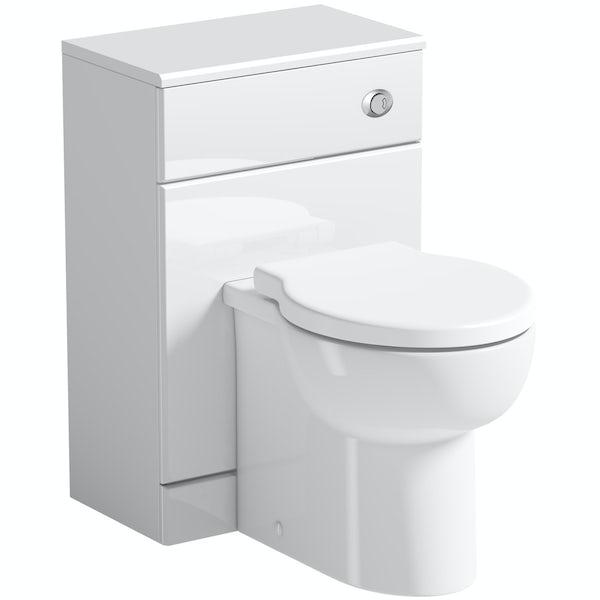 Orchard Eden white slimline back to wall toilet unit