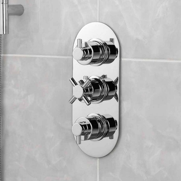 Mode Tate oval triple thermostatic shower valve