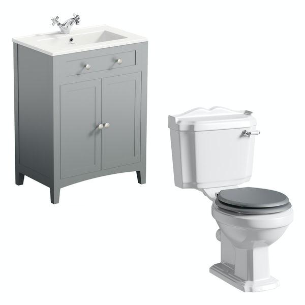 The Bath Co. Winchester and Camberley satin grey vanity suite 600mm