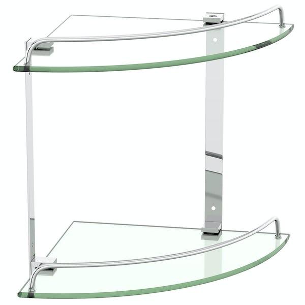 Orchard Options double round corner glass shelf