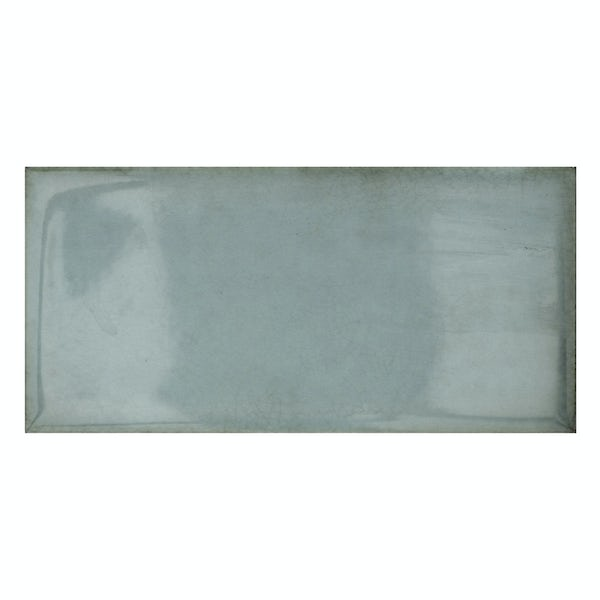 Verona aqua glazed gloss wall tile 100mm x 200mm