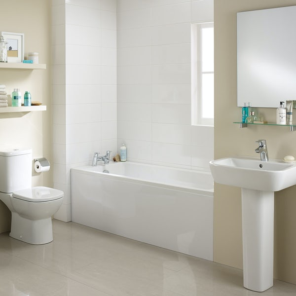 Ideal Standard Tempo complete straight bath suite 1700 x 700