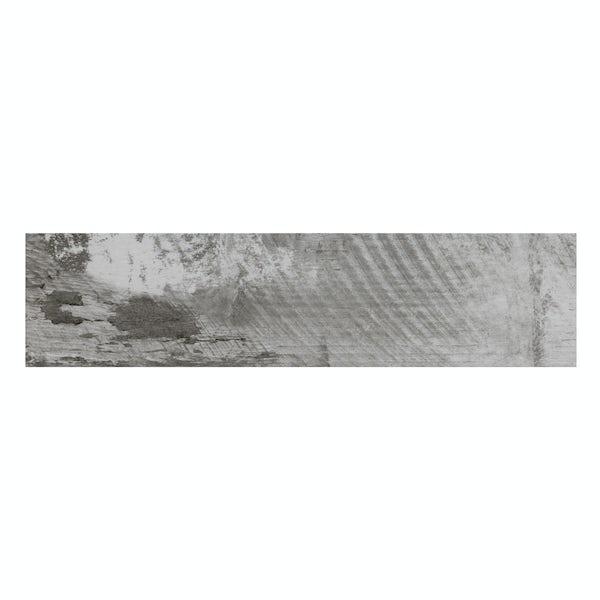 Basswood grey wood effect matt wall and floor tile 150mm x 600mm