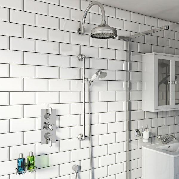 The Bath Co Triple Shower Valve Shower Set | VictoriaPlum.com