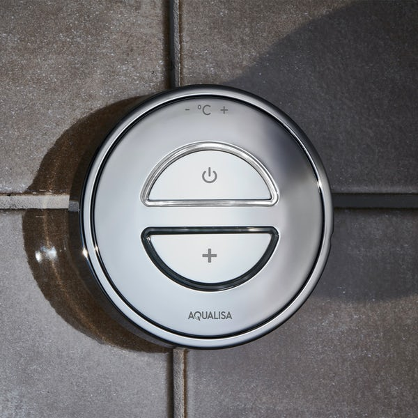 Aqualisa Unity Q Smart concealed shower pumped with adjustable handset gravity pumped