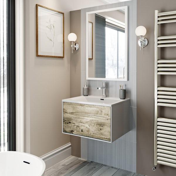 Mode Hale white gloss bathroom mirror 850 x 550mm