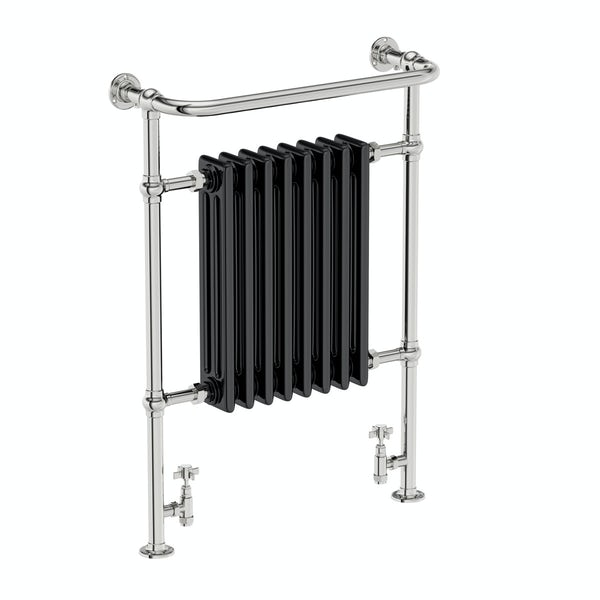 The Bath Co. Dulwich black traditional radiator 952 x 659